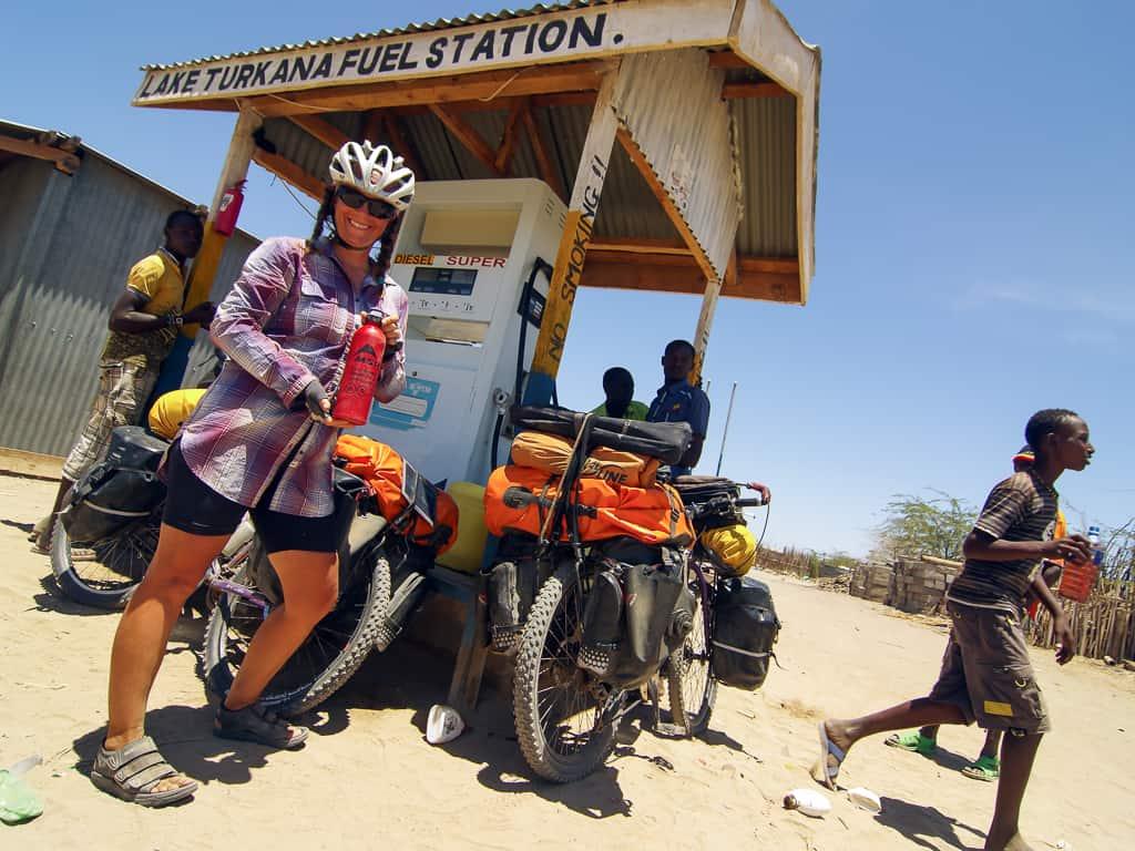 Janick Lemieux, nouvellement ambassadeurs Panorama Cycles, en Afrique