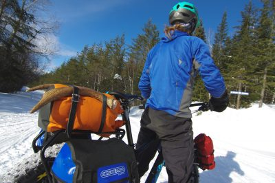 Fatbike Backcountry expedition in charlevoix