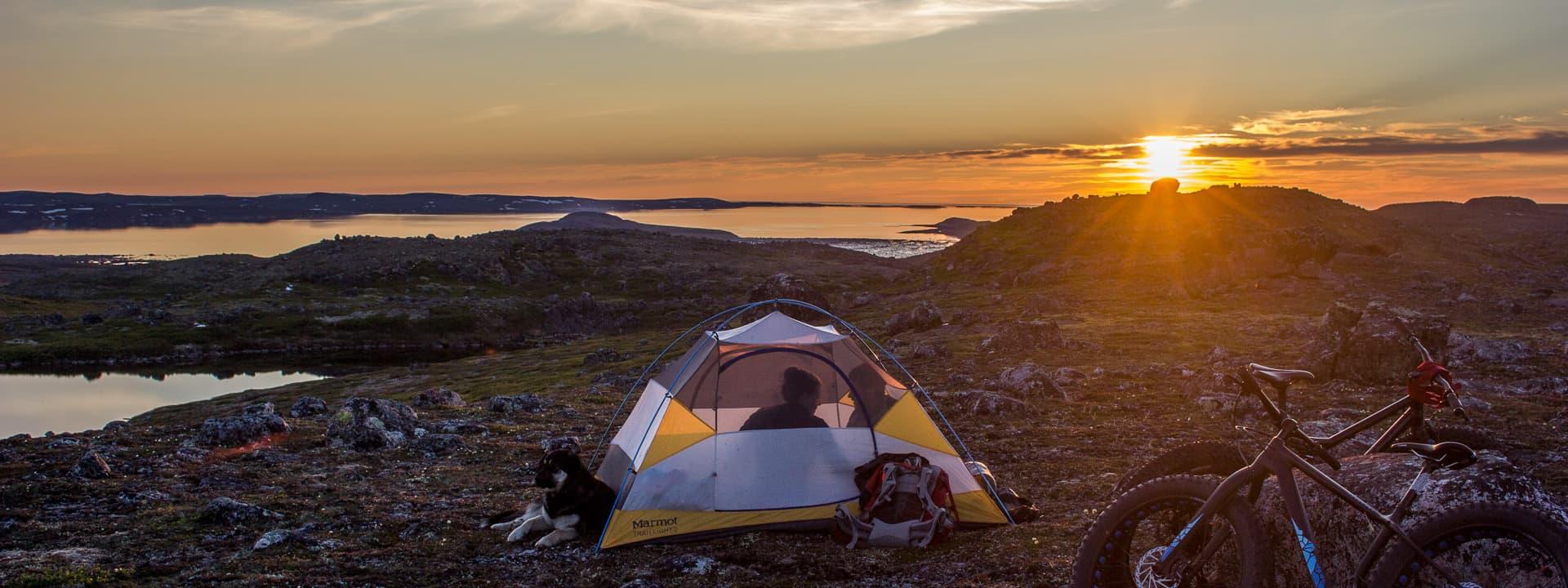 bikepacking panorama nunavik