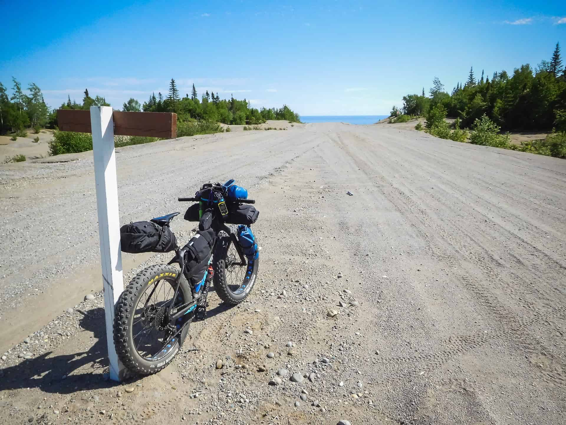 anticosti bikepacking with Panorama Chic-Chocs fatbike