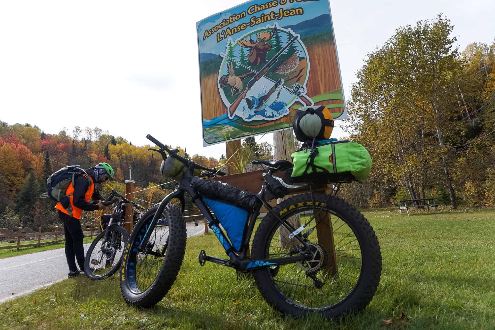bikepacking anse st-jean